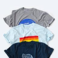 Design or upload artwork to start selling t-shirts online.