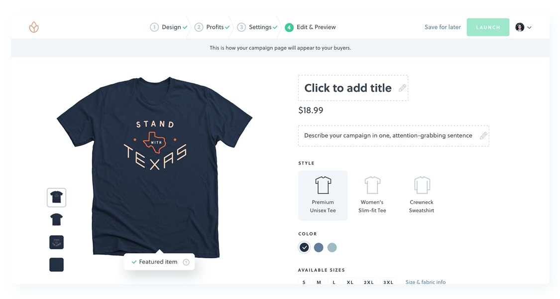 Sell Shirts Online Design Sell T Shirts Without Inventory Bonfire