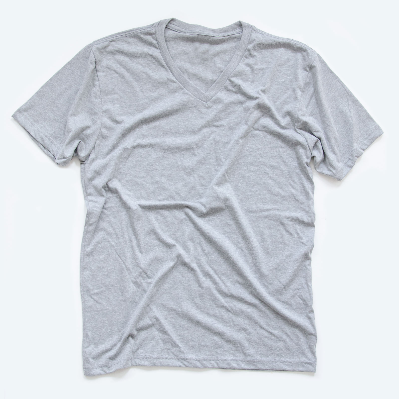 A unisex v neck t-shirt is a great style to sell online.