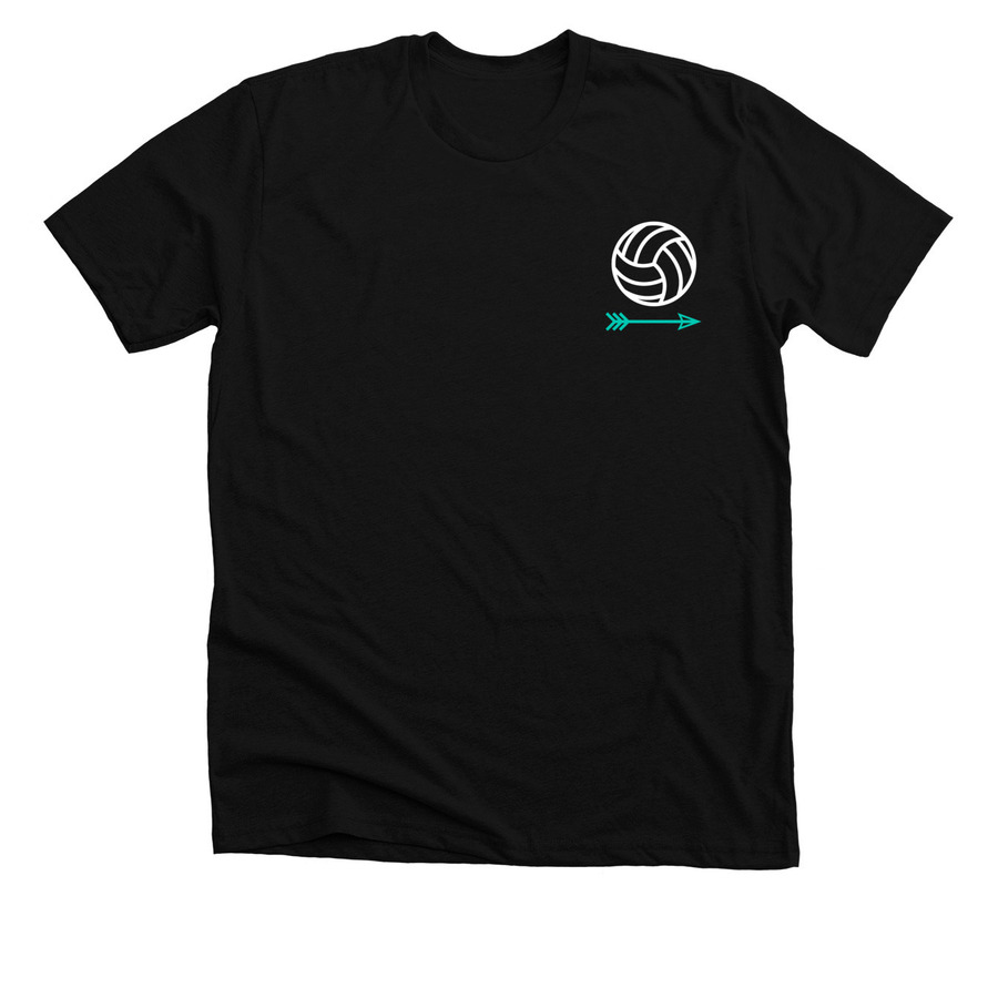 Cute Simple Womens Volleyball T Shirt Bonfire