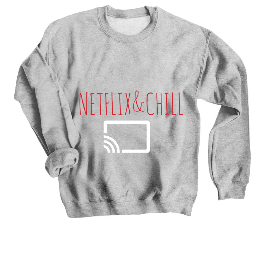 cd790e393c12 Netflix and chill grey sweater