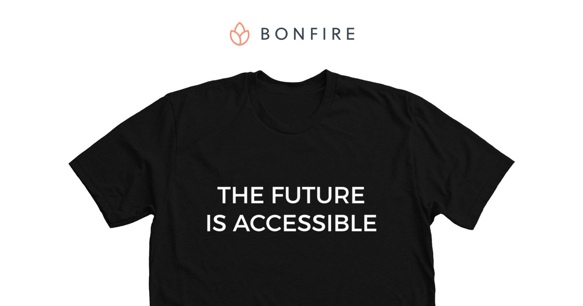 180fbb41a760 The Future is Accessible T-Shirt