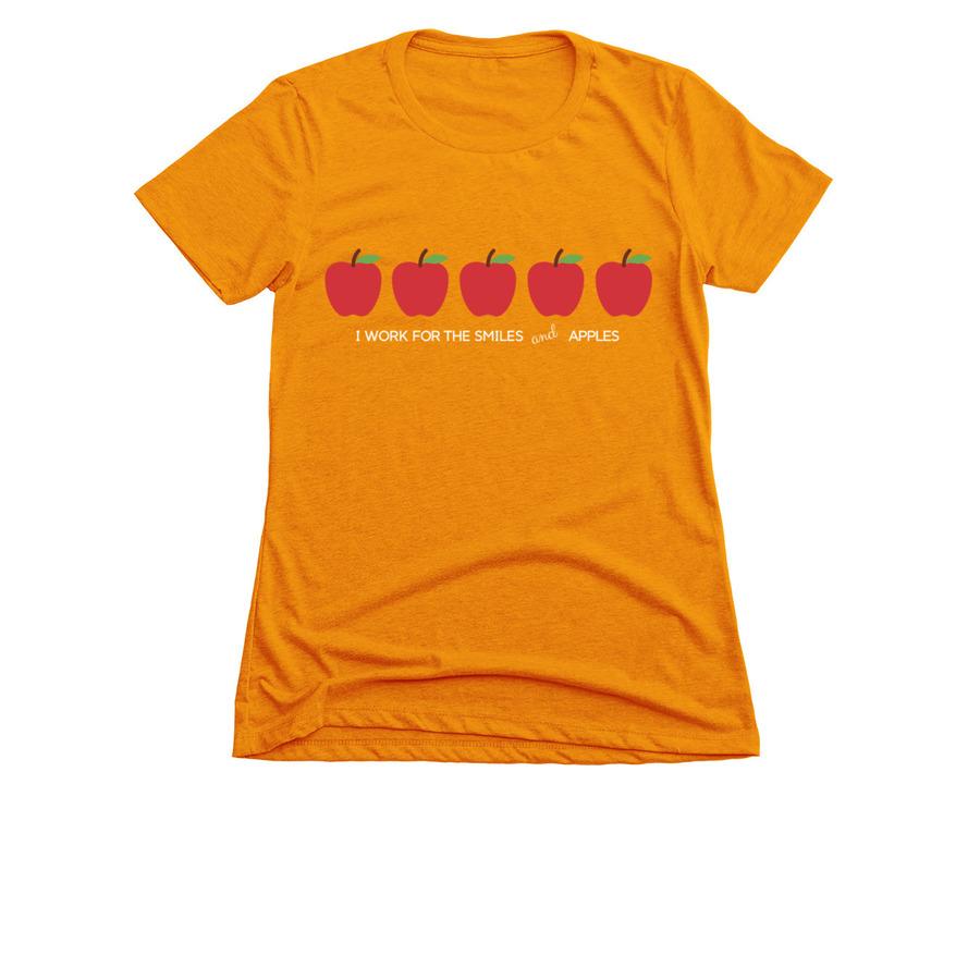 c488f381 VIP KID - I work for smiles & apples- T shirt   Bonfire