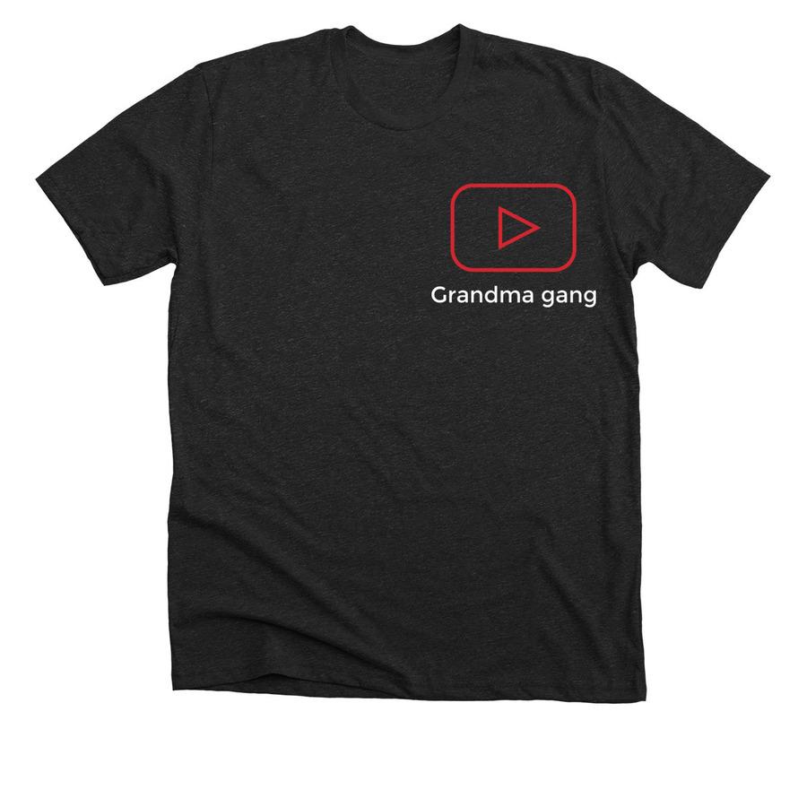 b8f74e218 Black t-shirt (grandma gang merch)   Bonfire