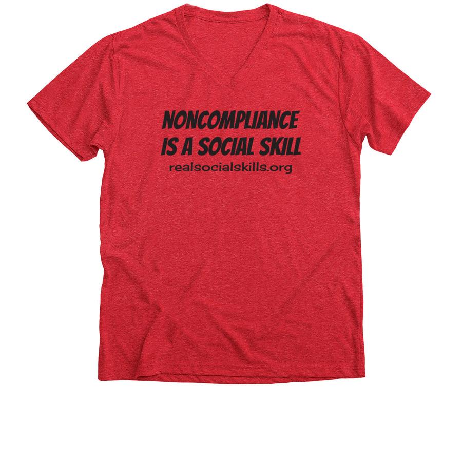 Real Social Skills T Shirt Red Instead Bonfire