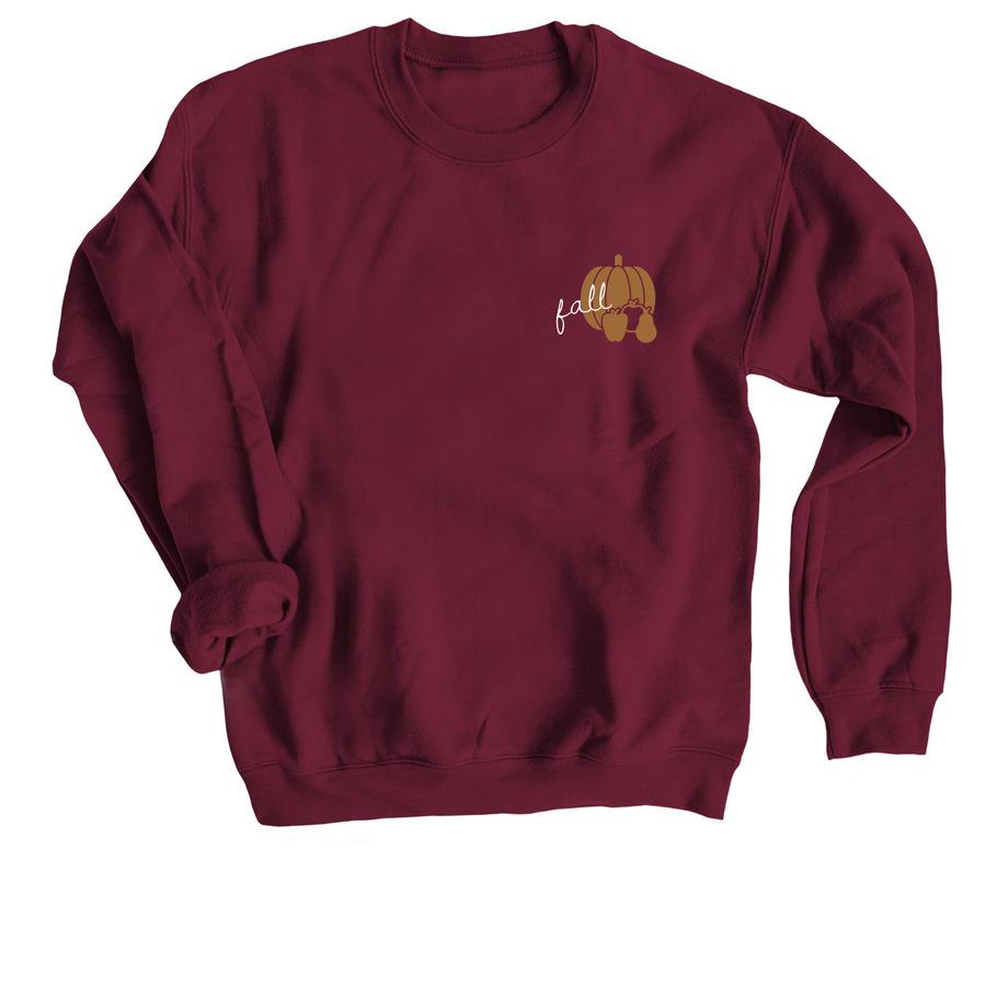 Fall is here, a Maroon Crewneck Sweatshirt