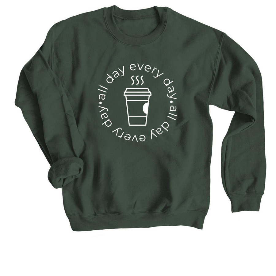 All Day Every Day, a Forest Crewneck Sweatshirt
